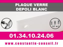 Plaque verre acrylique Dépoli