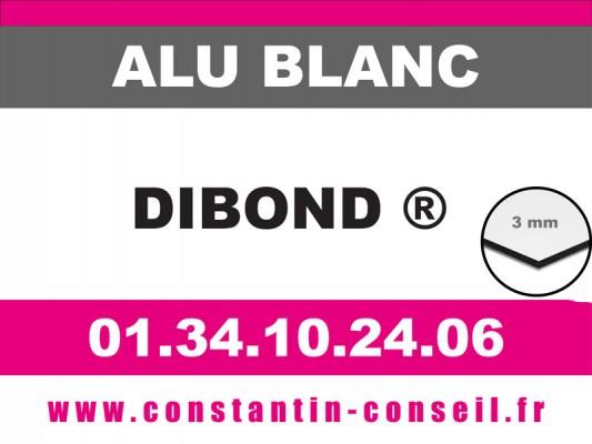 Alu dibond Blanc