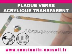 plaque verre acrylique transparent